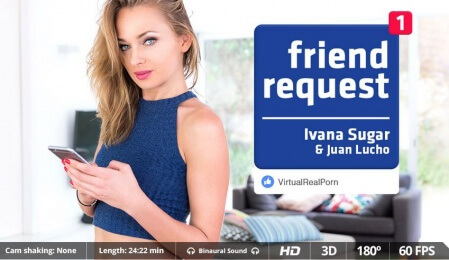 Oekraïense babe Ivana Sugar in VRpornofilm : Friend's Request