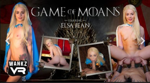 Game of Moans VR porno parodie op Game of Throans met blondine Elsa Jean